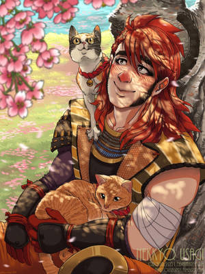 Commission Work - Hanami Spring by Orcagirl2001
