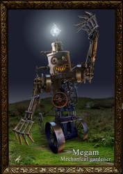 Megam the mechanical gardener by Zilverbergelf