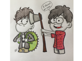 Dan and Phil (Gravity Falls style) by GypsyNatayla