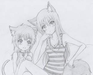Natsumi and Kurysu by Kurysu