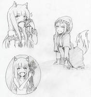 Horo sketches by Kurysu