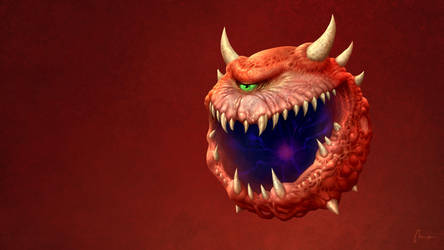 Cacodemon from Doom by Dreamphaser