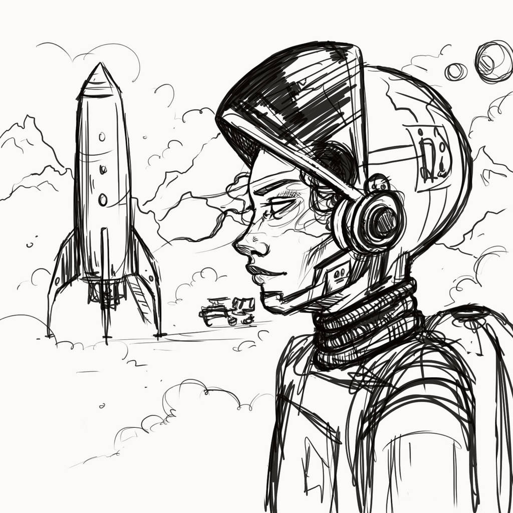 astronaut concept sketch by andreanancy on deviantart F-22 G-suit astronaut concept sketch by andreanancy astronaut concept sketch by andreanancy