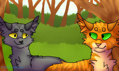 Fireheart and Graystripe by MerlinWingOfficial
