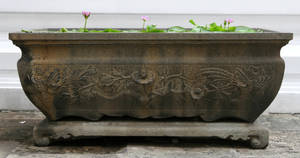 Carved Stone Trough by Rivendell-PhotoStock
