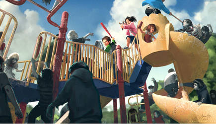 Slender Man's Playground by Defiantzel