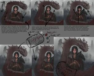 Dragon rough tutorial by Suriael