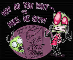 Invader Zim's Little Secret by DrewBlueberry