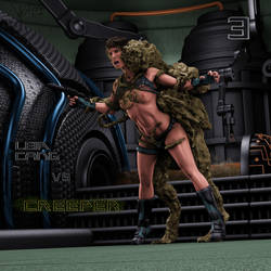 Leia Cang Vs Creeper 3 by Vyxes