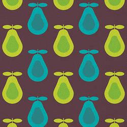 Retro Dark Pear Print by kpucu
