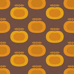 Retro Brown Pumpkin Print by kpucu