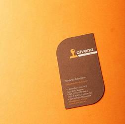 alvena business card by kpucu