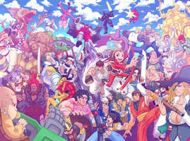 Capcom Fighting Tribute artbook piece by Daniel-GS