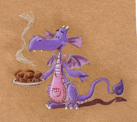 muffin dragon by Manolo-Angus-Lepage