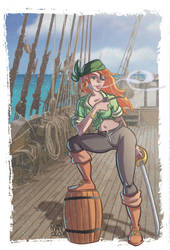 redhead pirate by Manolo-Angus-Lepage