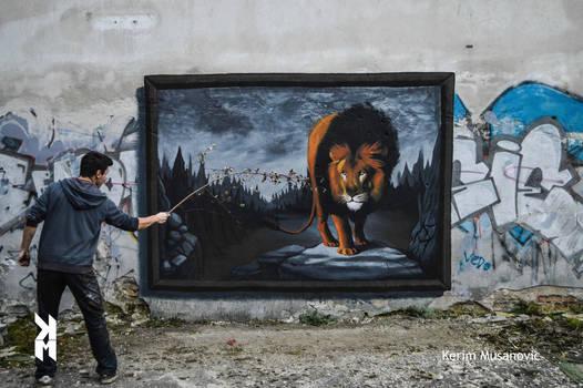 ''Lonely Lion'' Sarajevo, 2013 by Kerim-Musanovic