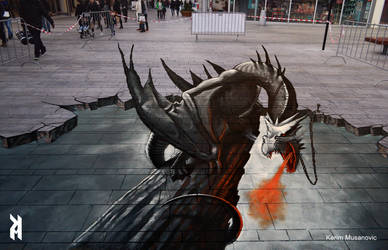 ''Dragon in chains'' Almere, Netherlands 2016 by Kerim-Musanovic