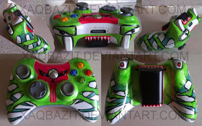 Skullspider - custom Xbox 360 Controller art by xaqBazit