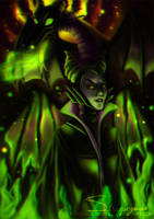 Maleficent (Sleeping Beauty) by StargazerArts