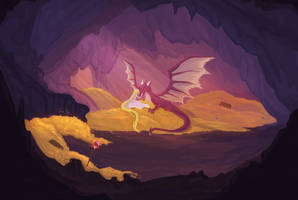 The Dragon's Hoard by artofrona