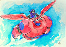 Invincible - Hiro and Baymax (big hero 6) by AlaskanKara