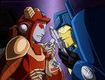 Commission - Pee-Dee and Nightbeat by WaywardInsecticon