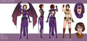 Purple Dragon - Character Sheet by LadyDreamMaker