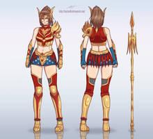 Wonder Guardian Reference Sheet by LadyDreamMaker