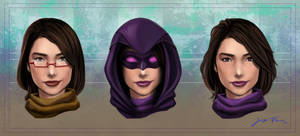 Purple Dragon/ Alejandra Face Reference Sheet by LadyDreamMaker