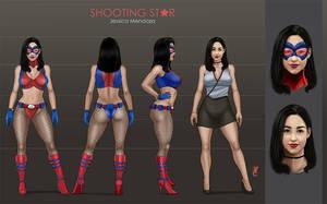 Shooting Star / Estrella Fugaz  - Character Sheet by LadyDreamMaker