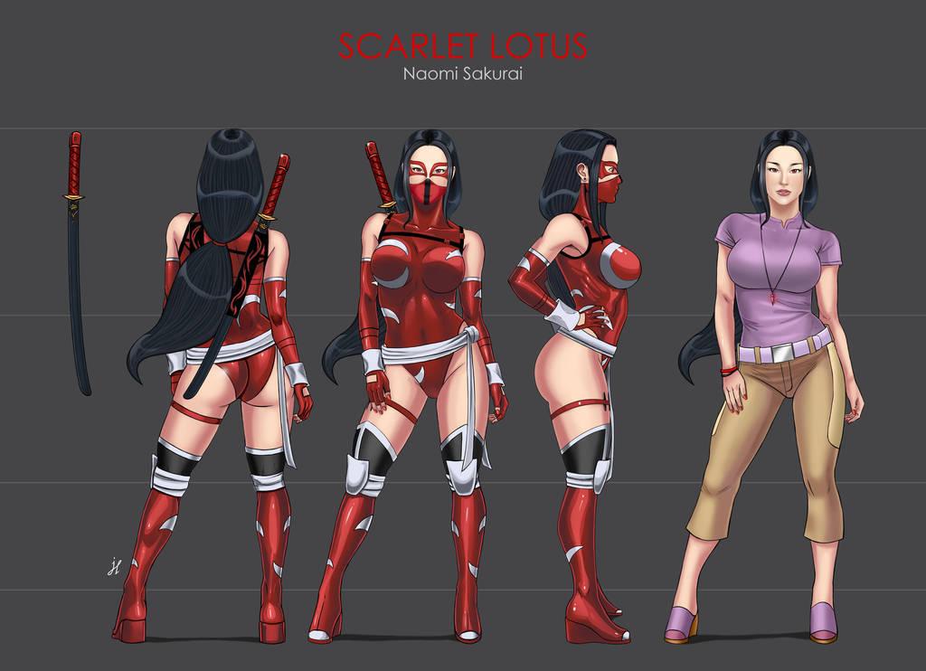 Scarlet Lotus / Loto Escarlata - Character Sheet by LadyDreamMaker