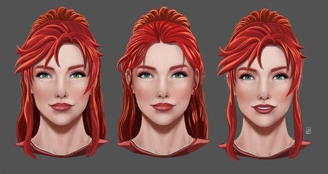 Mary Ann  Face Reference Sheet by LadyDreamMaker