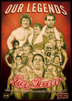 Wrestling Legends Live Forever by TheIronSkull