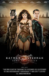 Batman v Superman Dawn of Justice - Trinity Poster by TheIronSkull