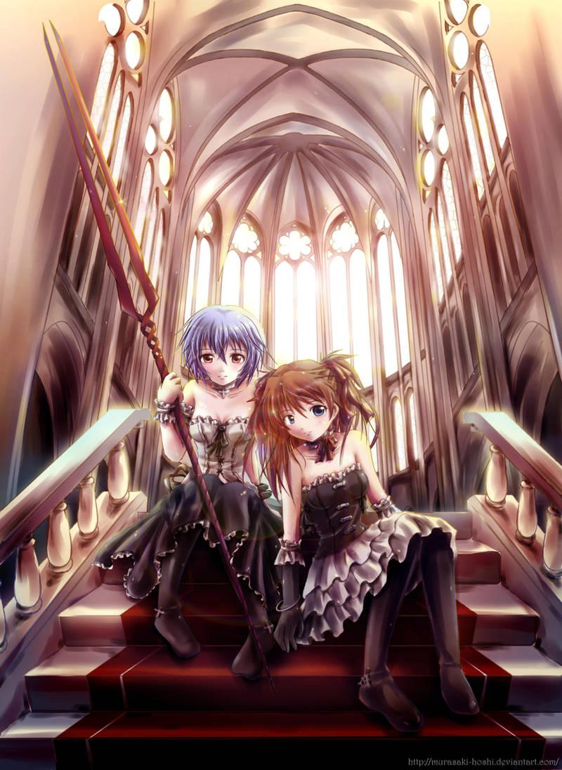 Rei + Asuka -gothic symphony- by Murasaki-Hoshi