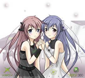 Xbox girl  -twins- by Murasaki-Hoshi