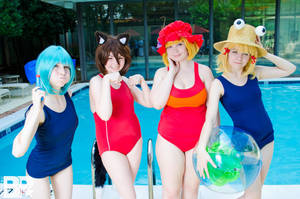 Pool Time Touhous by KohimeBashiri