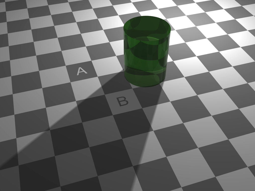 Checker shadow illusion by butisit