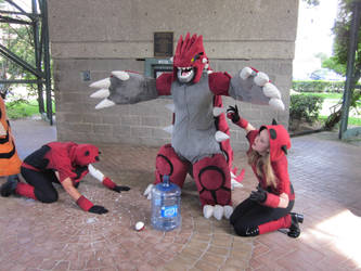 A-Kon 23: Team Magma and Groudon by Inept-Evil-Genius