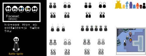 Undertale - Gaster Sprite Sheet by 998TheNewOrchestra