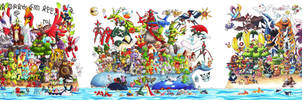 All 649 Pokemon: Gotta Draw Em All by Fishenod