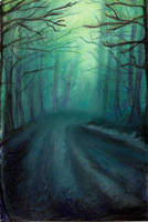 Rainy forest by ColourChromaticism