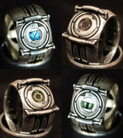 Portal Corrupt Core Rings (Silver) by ammnra