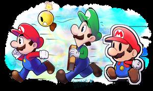 Mario and Luigi Paper Jam by Sakusagi
