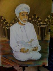 sultan qaboos king of oman by llanzana