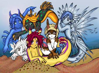 Nudibranch Groupshot by ScytheDragon