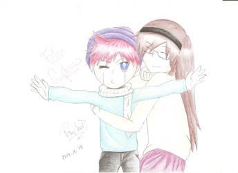 Xiriv hugs Enzo by RayWolfAran
