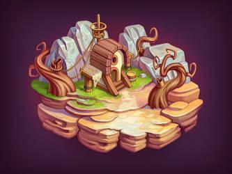 Floating Island 2 by NestStrix