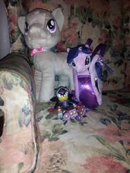 Octavia And Twilight Plush And Shadow Lancelot... by SonicShadowBlaze365