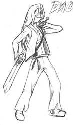 Geeky Swordsman-Sketch by Dao128